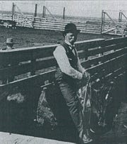 John Harris, who established the Harris Land & Cattle Co., at the Great Northern Railroad Yards at Kershaw.
