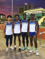 In this file photo from early May, members of Guam High's fastest boys relay team continued their success at May 16's All-Island meet. From left are Brandon Tuquero, Andre Johnson, Sincere Powell, and Jeylyn Dowdell.
