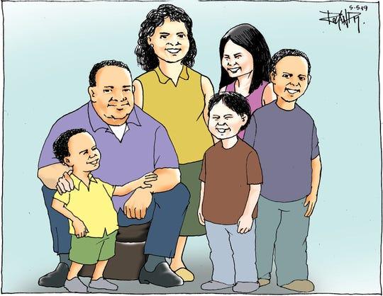 Sunday cartoon on foster families.