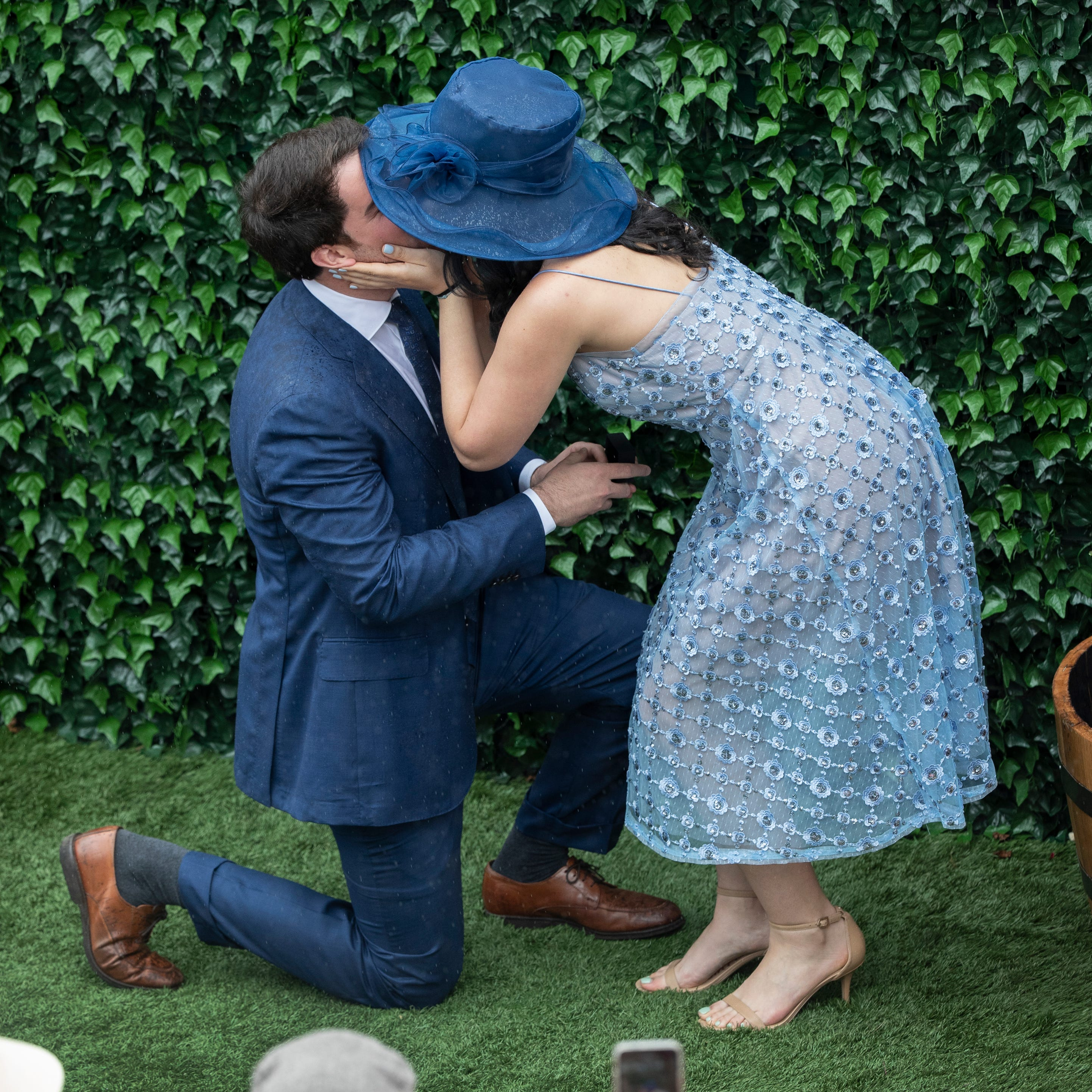 Couple gets engaged at Derby bourbon booth and the wedding may be boozier because of it