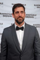 2010 Super Bowl champion Green Bay Packers quarterback Aaron Rodgers on the red carpet at the Barnstable Brown Derby Eve Gala in Louisville. May 3, 2019.