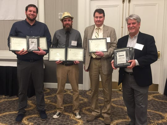 Eight APME awards were earned by the Mansfield News Journal staff for 2018. Pictured are, from left, Sports Reporter Jake Furr, News Reporter Zach Tuggle, News Reporter Mark Caudill and Editor David Yonke.