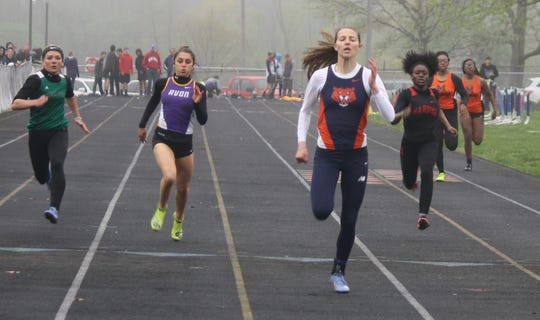 Galion junior Kerrigan Myers easily wins the 200 to complete a sweep of her four events in Friday's Galion Invitational.
