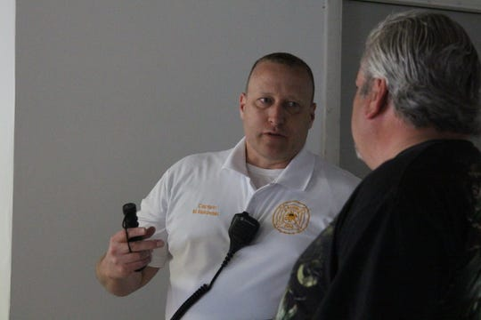 Marion City Fire Inspector Mike Makowski inspects a residential unit for fire safety and code violations Thursday. Makowski says there have been too many house fires without working smoke alarms.