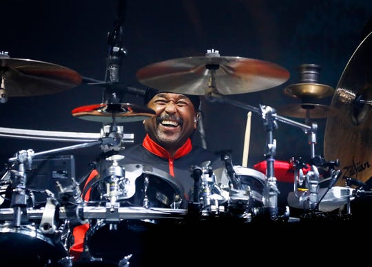 Dave Matthews Band drummer Carter Beauford performs on the Terminix stage at Beale Street Music Festival Friday, May 2, 2019.