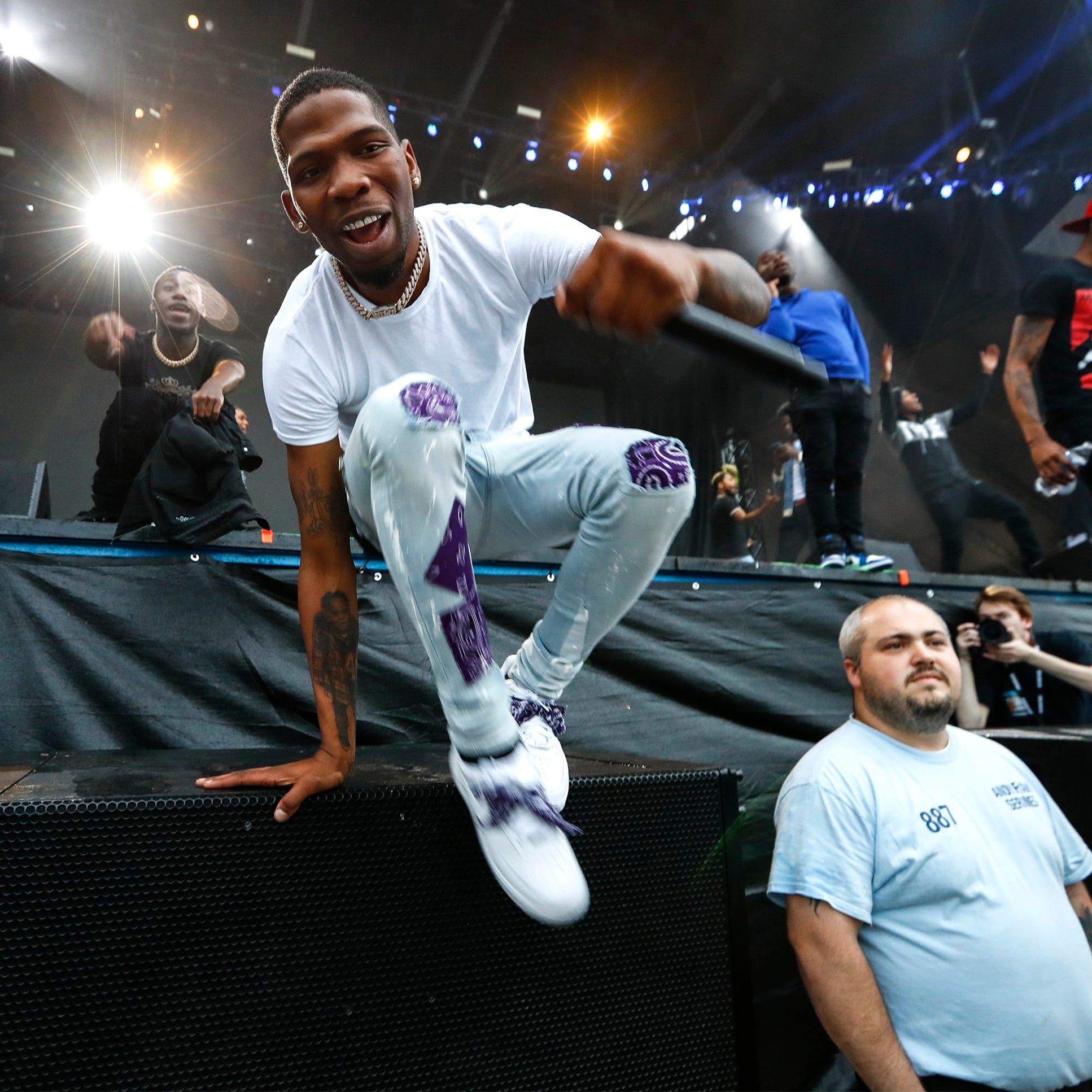 BlocBoy JB takes stage at Beale Street Music Festival