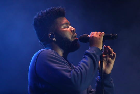 Khalid performs Friday during the first day of the Beale Street Music Festival, part of the Memphis in May at Tom Lee Park in Downtown Memphis.