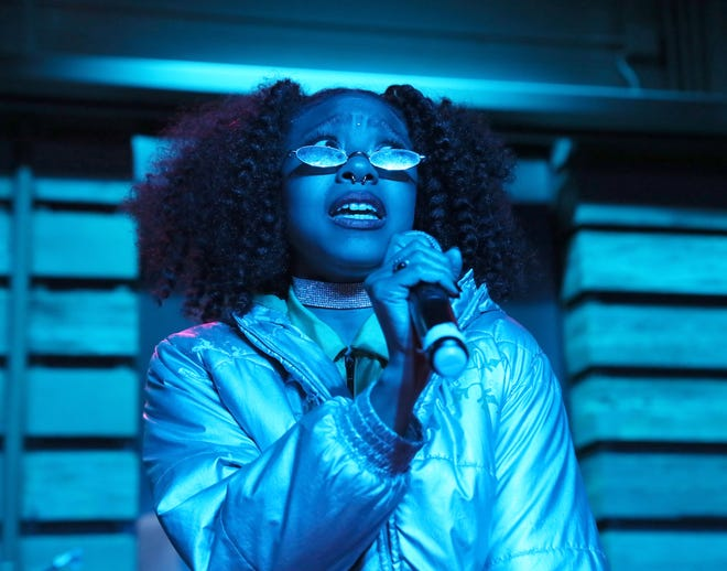 Zed Kenzo performs at the Milwaukee Journal Sentinel's Wisconsin Bands to Watch 2019 concert Friday, May 3, at the Radio Milwaukee Studios.