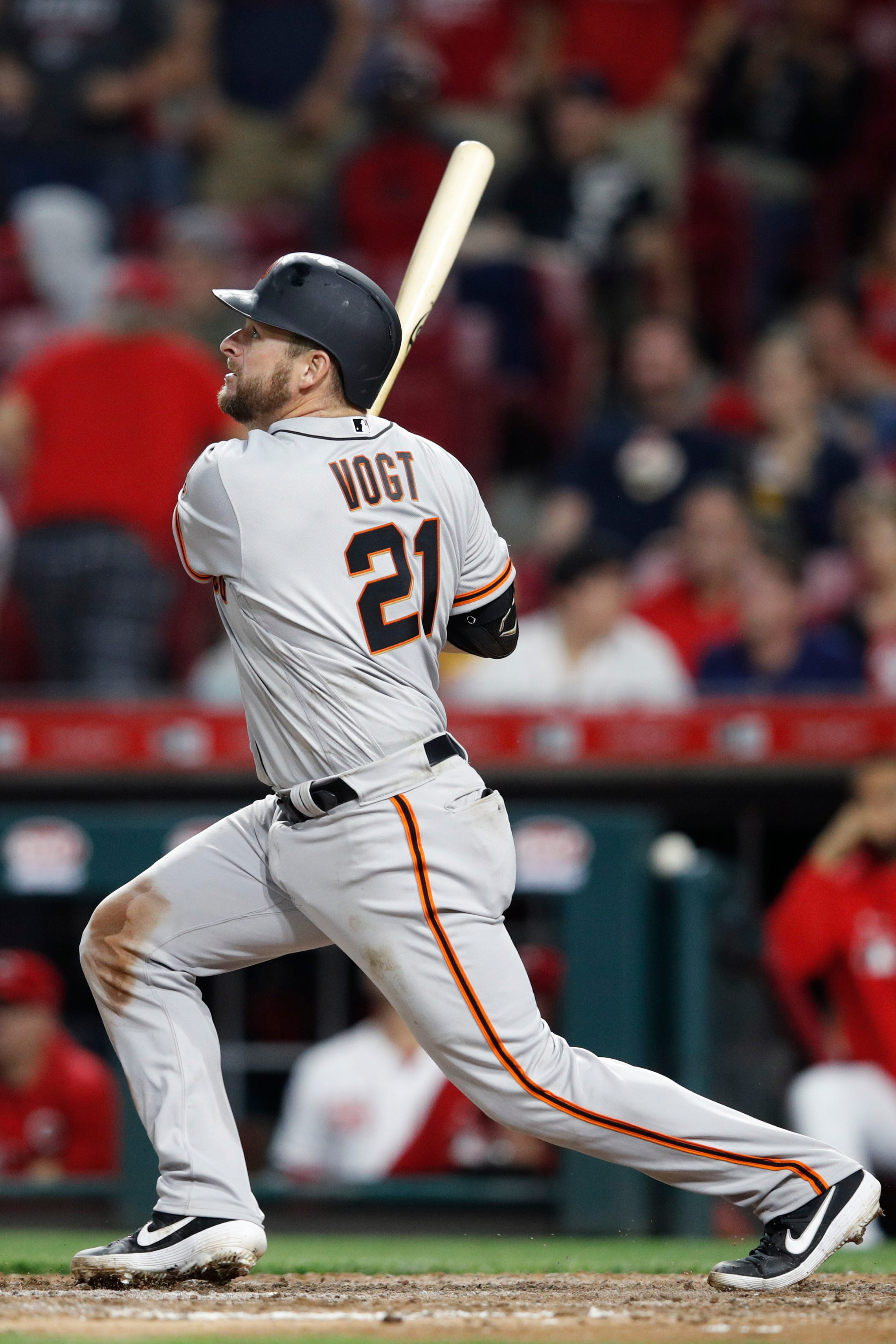 f66651b49 After more than a year away from the Major Leagues, former Brewers catcher  Stephen Vogt hit a game-tying homer in his first game back as the Giants  rallied ...