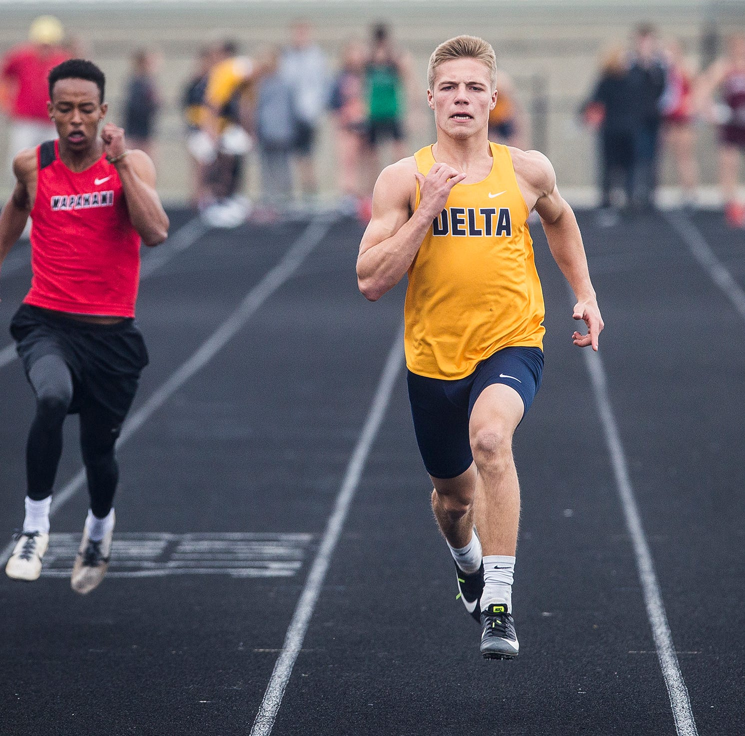 Delta boys and Wapahani girls win Delaware County track titles