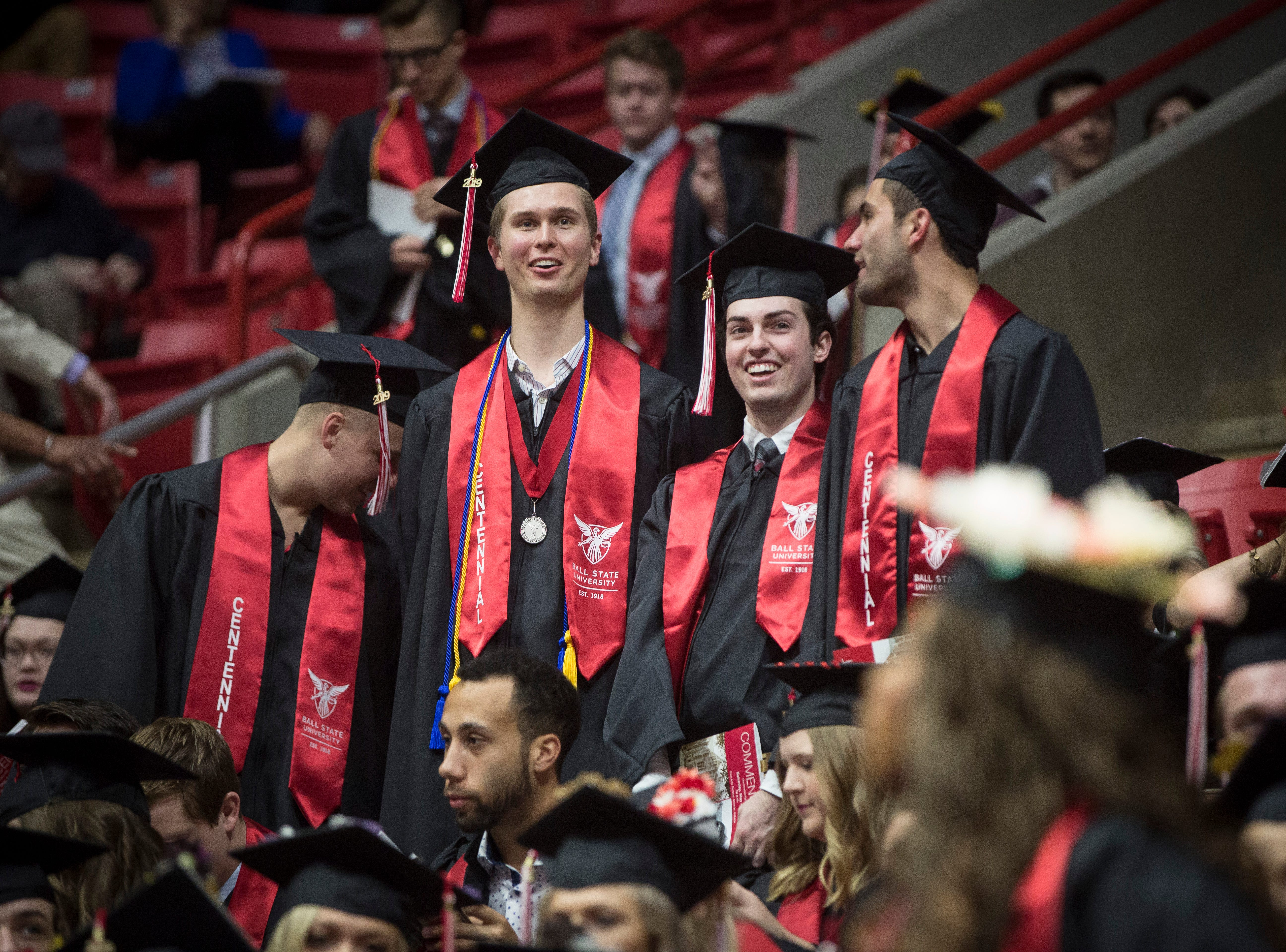 Graduates from Ball State university are recognized for their achievements on May 4 during Ball State University's Spring Commencement inside Worthen Arena. Indiana Governor Eric Holcomb gave the commencement address.