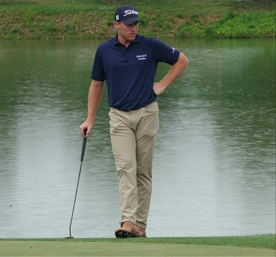 Robby Shelton leads the Web.com Tour Nashville Golf Open heading into Sunday's final round.