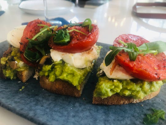 Avocado toast at The Hampton Social.