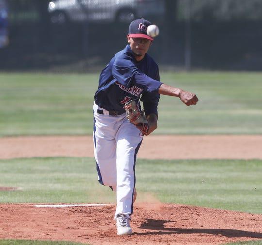 Andres Arellano of La Quinta pitches against Temescal Canyon, May 3, 2019.
