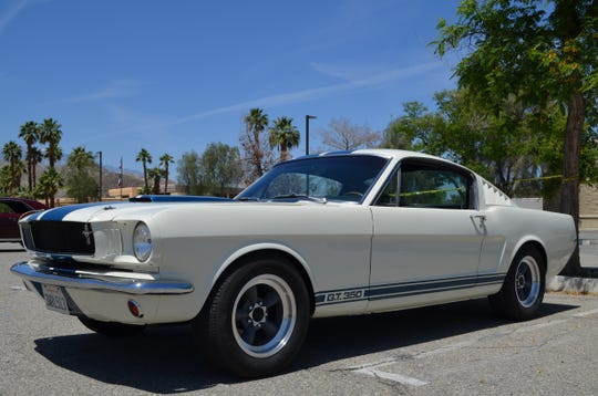 This Mustang Shelby GT350 was one of the classic cars at the Palm Springs Cruisin' Association car show. Saturday, May 4, 2019.