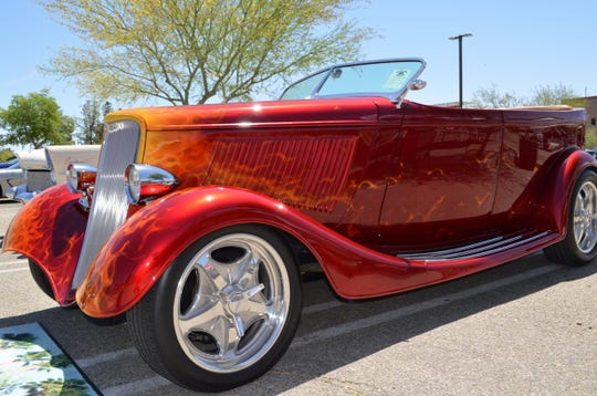 This 1933 Ford Phaeton was one of the classic cars at the Palm Springs Cruisin' Association car show. Saturday, May 4, 2019.