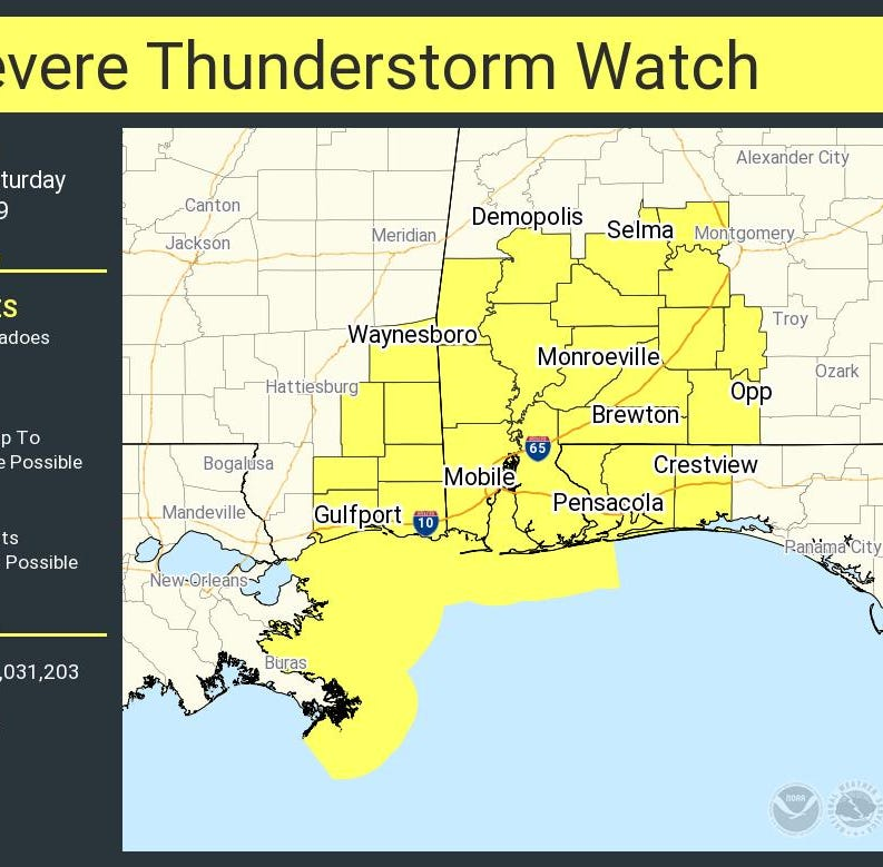 NWS: Strong storms expected to leave Pensacola area over next 2 hours