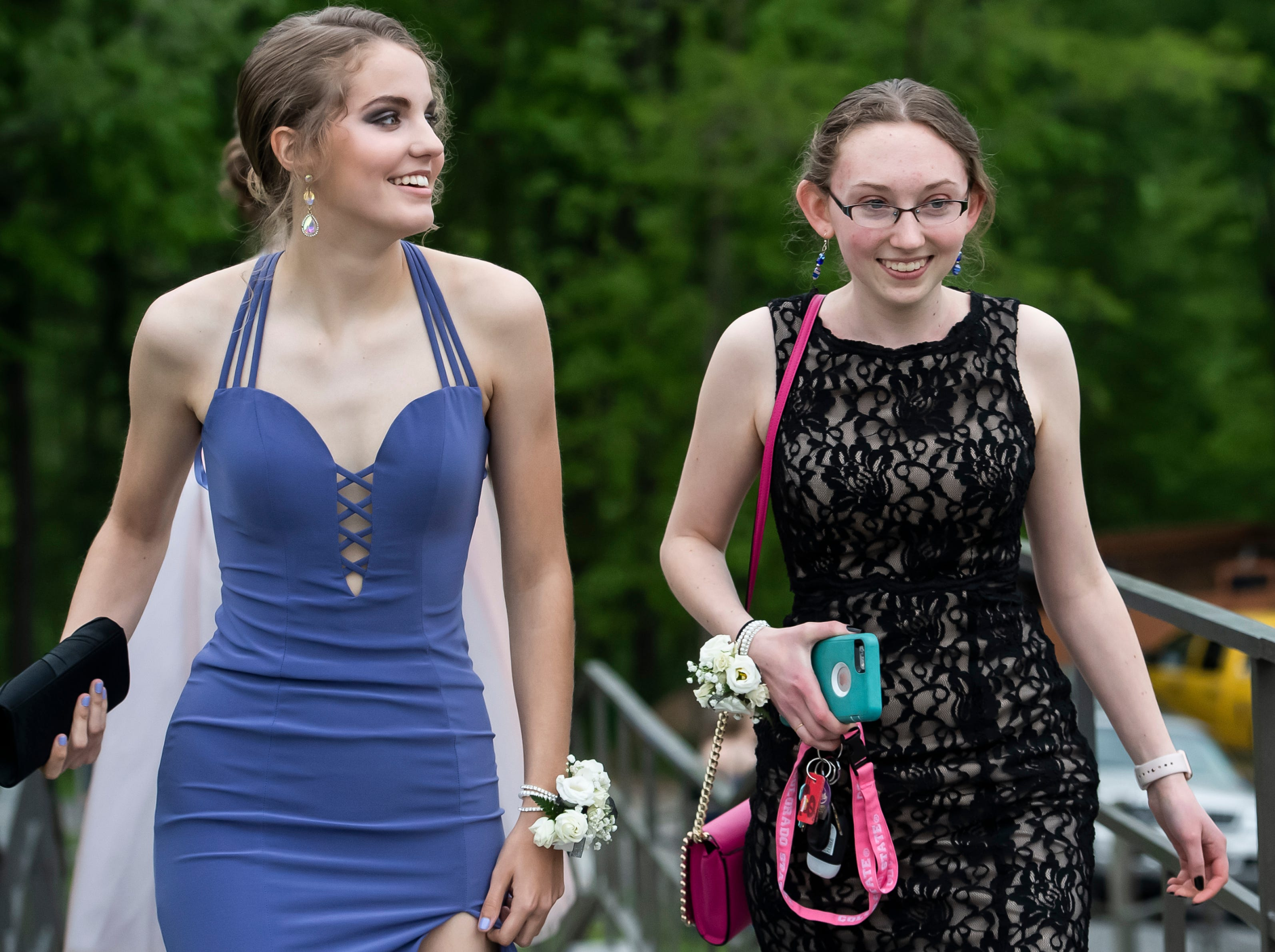 Students arrive at Biglerville High School's prom at the Lodges at Gettysburg on Friday, May 3, 2019.