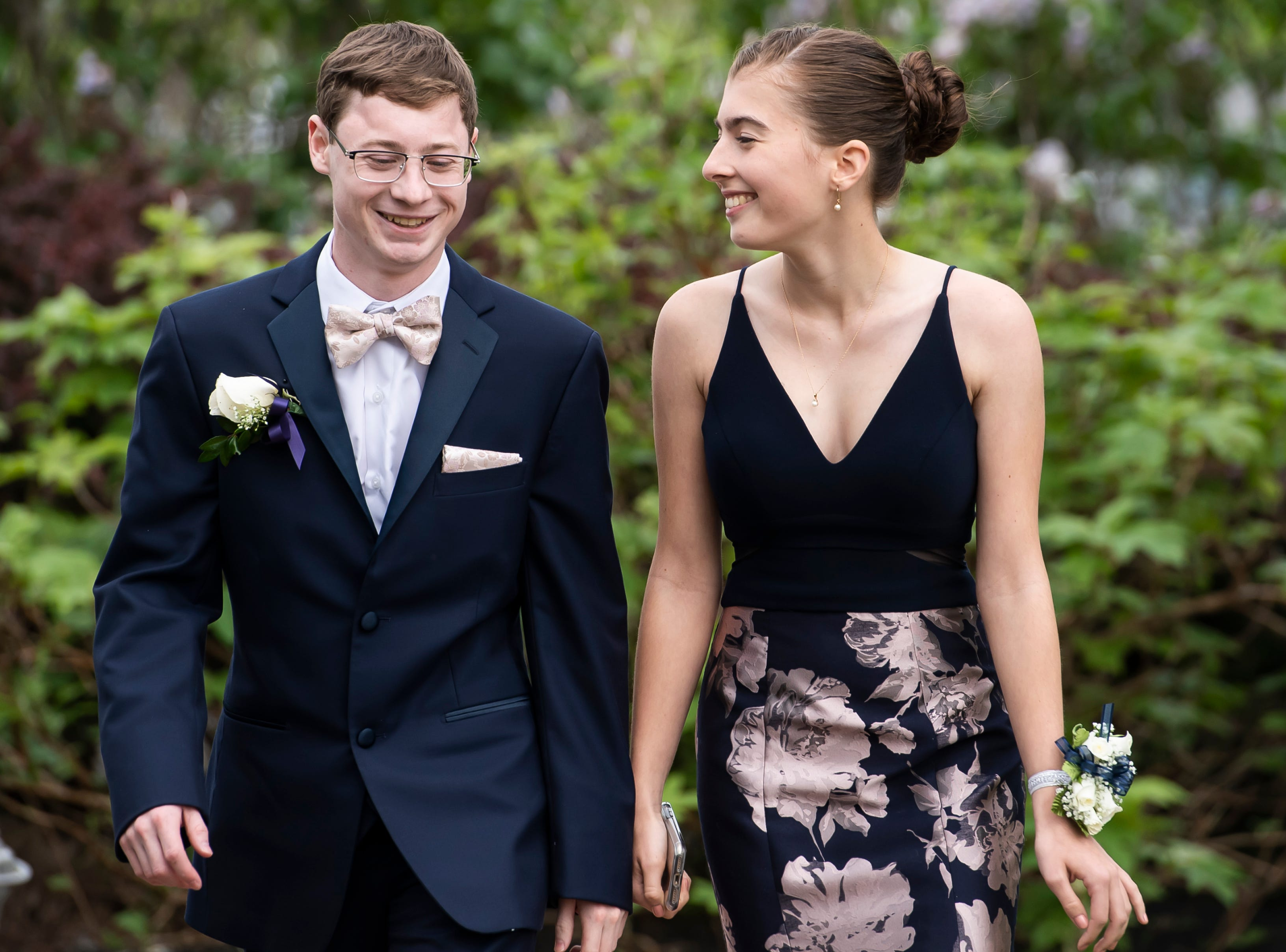 Students arrive at Fairfield Area High School's prom at the Links at Gettysburg on Friday, May 3, 2019.