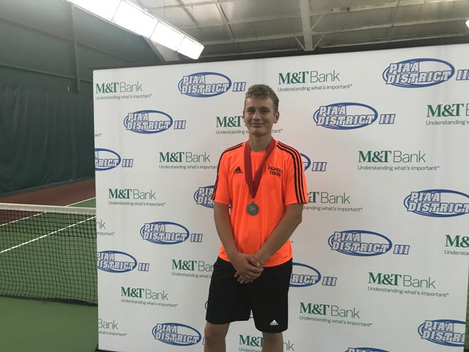 Palmyra's Ben Clary followed up the Mid-Penn 3A singles title he won on Monday by finishing second in the District 3 3A tourney Saturday at Hershey Racquet Club.