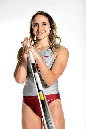 Port Huron Northern graduate and University of Oklahoma track and field record holder Mackenzie Shell.