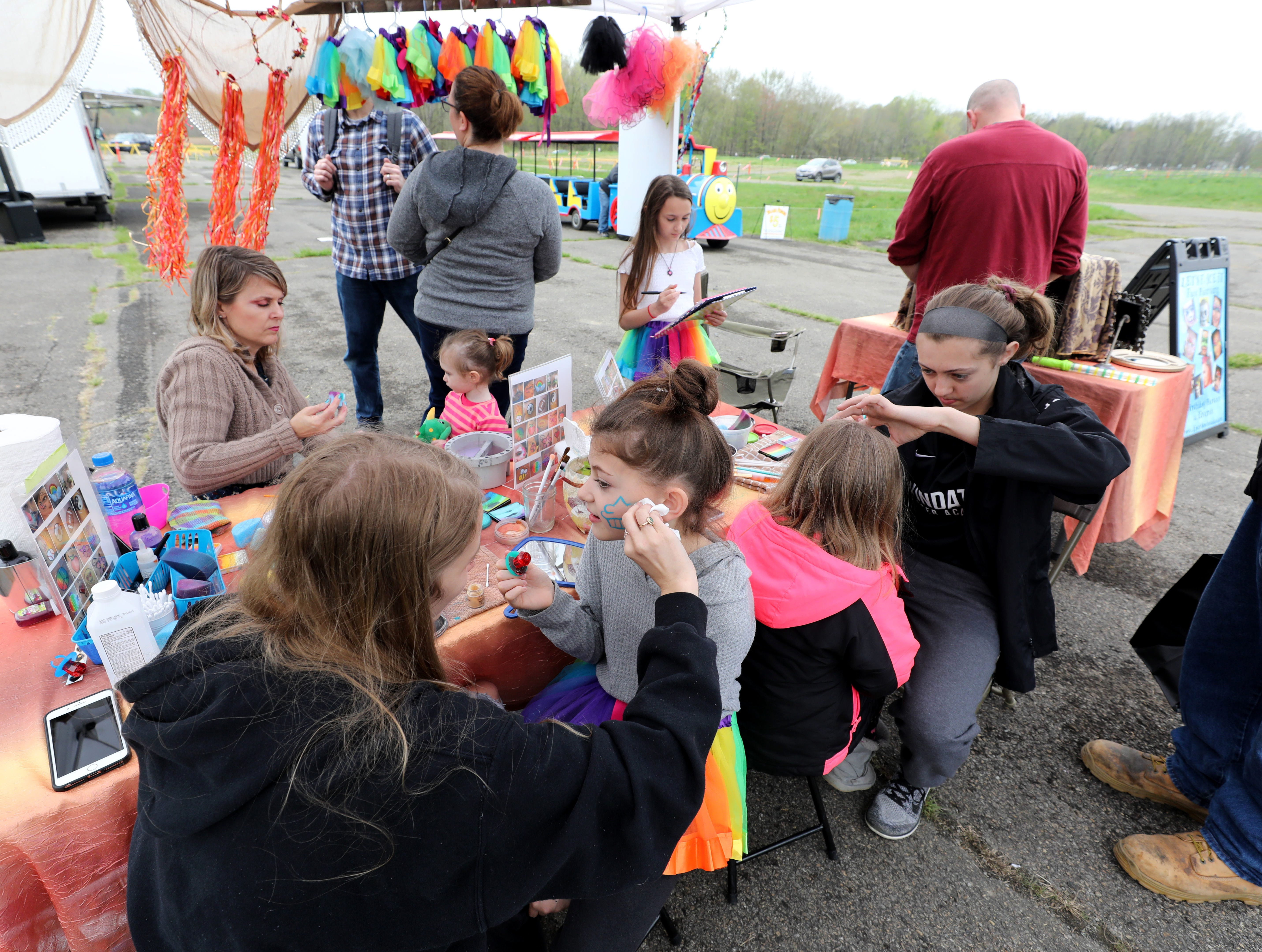 The face painting booth at the K104.7 Cupcake Festival at the Stormville Airport, May 4, 2019.