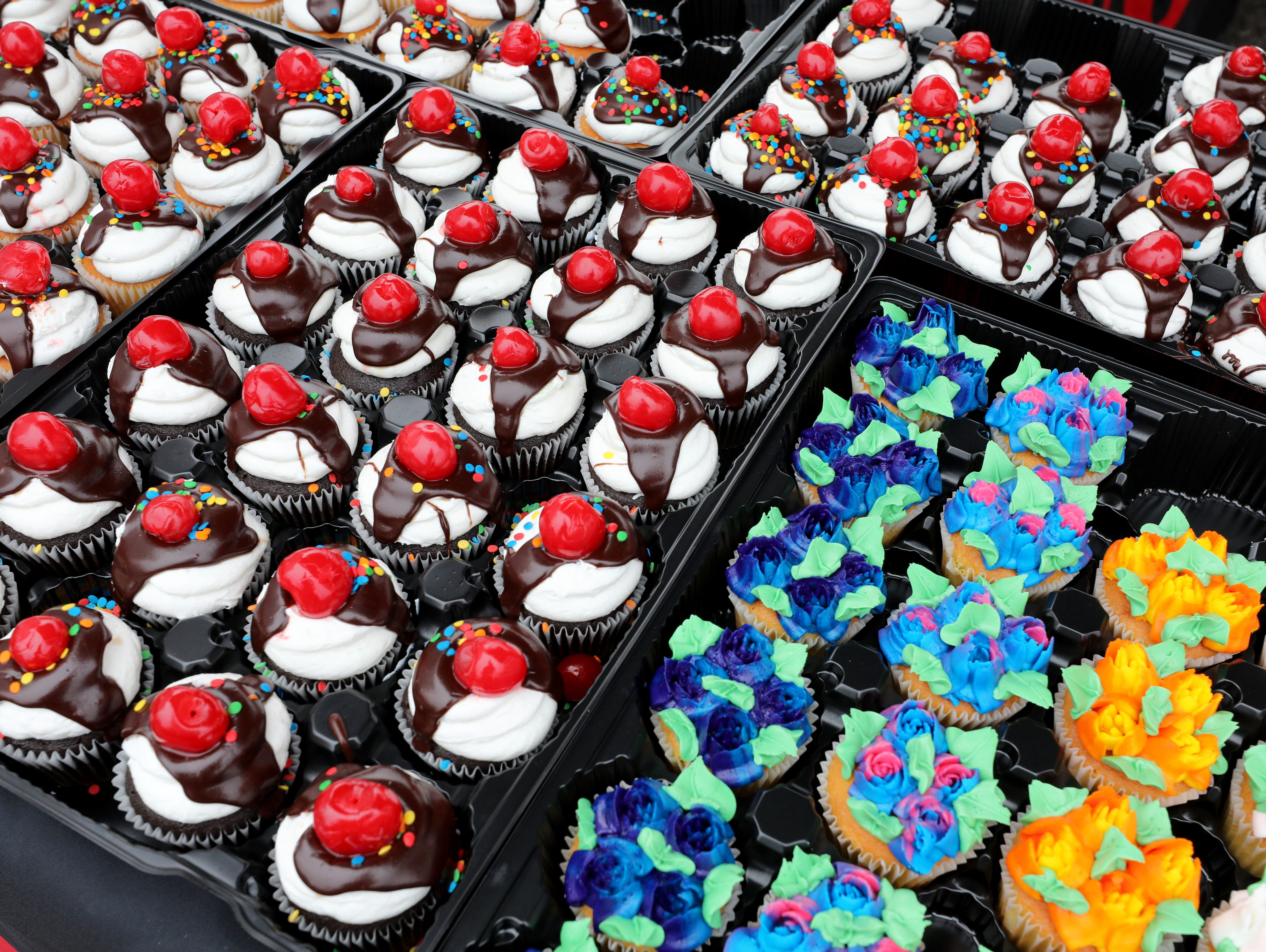 Cupcake detail from the Tops Friendly Market cupcake booth during the K104.7 Cupcake Festival at the Stormville Airport, May 4, 2019.