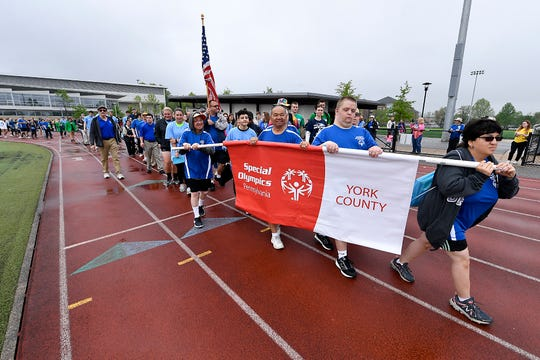 The Special Olympics of Pennsylvania hold the opening ceremony for the 39th annual Spring Games, Saturday, May 4, 2019.John A. Pavoncello photo