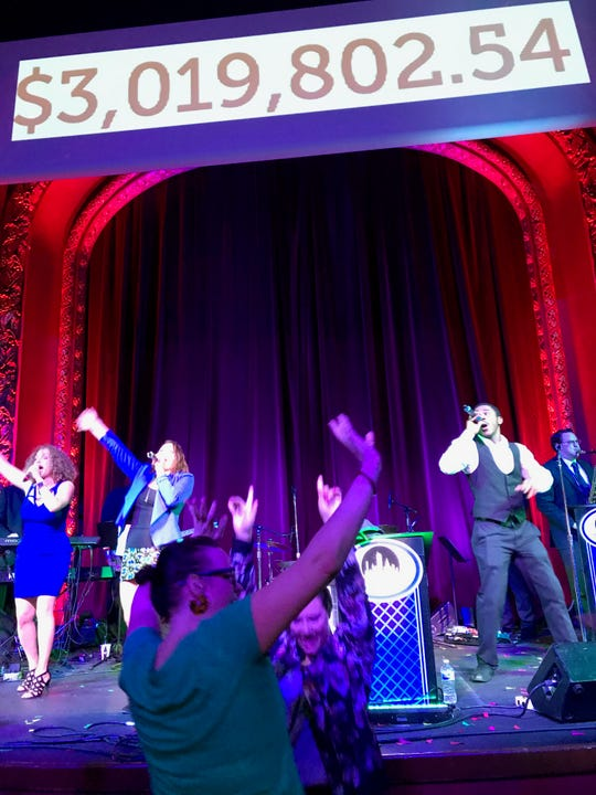 Give Local York County supporters celebrate a successful fundraising effort at midnight in York's Capitol Theatre. The 2019 philanthropic effort raised more than $3 million, doubling the 2018 effort.