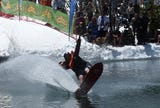 Check out the 2019 Cushing Crossing, a pond skimming event, at Squaw Valley on May 4, 2019.