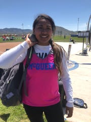 McQueen's Samantha Valele won the shot put for High Desert League girls.