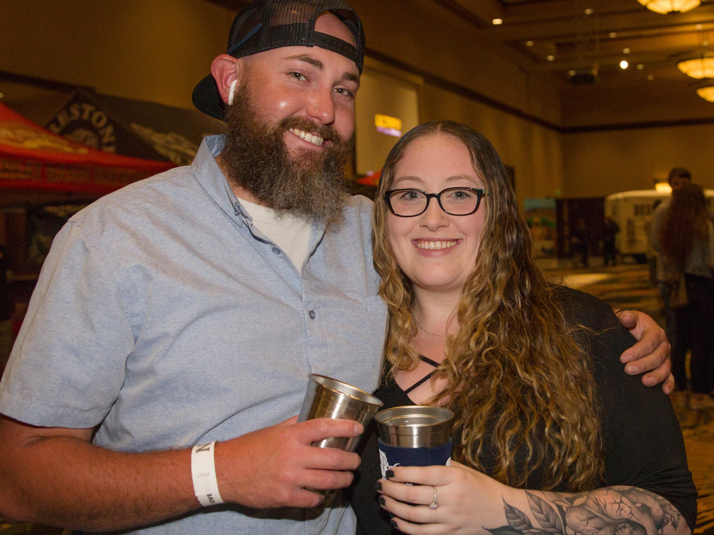 Rich and Hayley during the Young Alumni Beer Fest in the Reno Ballroom in downtown Reno on Friday, May 3, 2019.