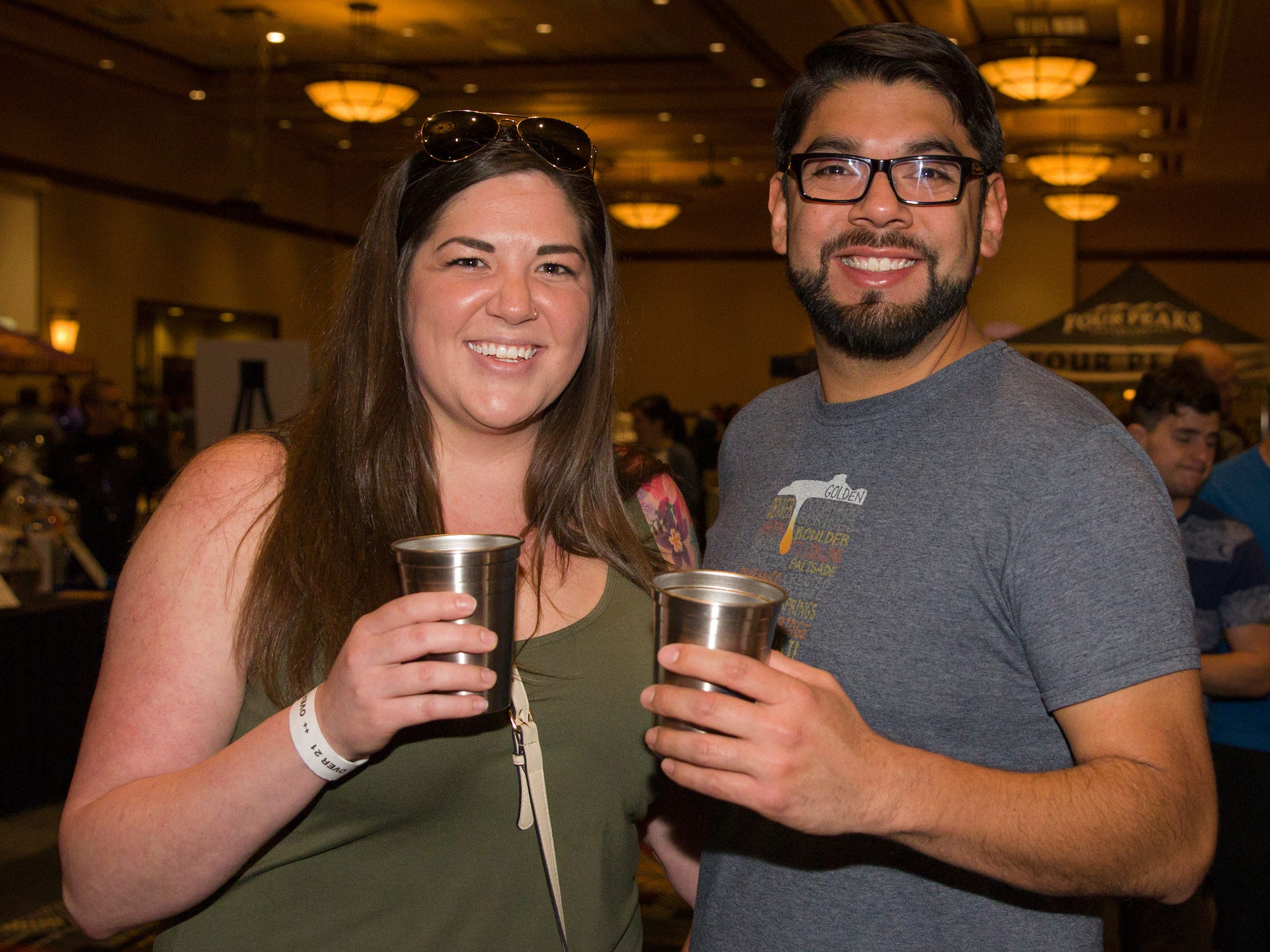 Kristen and Marco during the Young Alumni Beer Fest in the Reno Ballroom in downtown Reno on Friday, May 3, 2019.