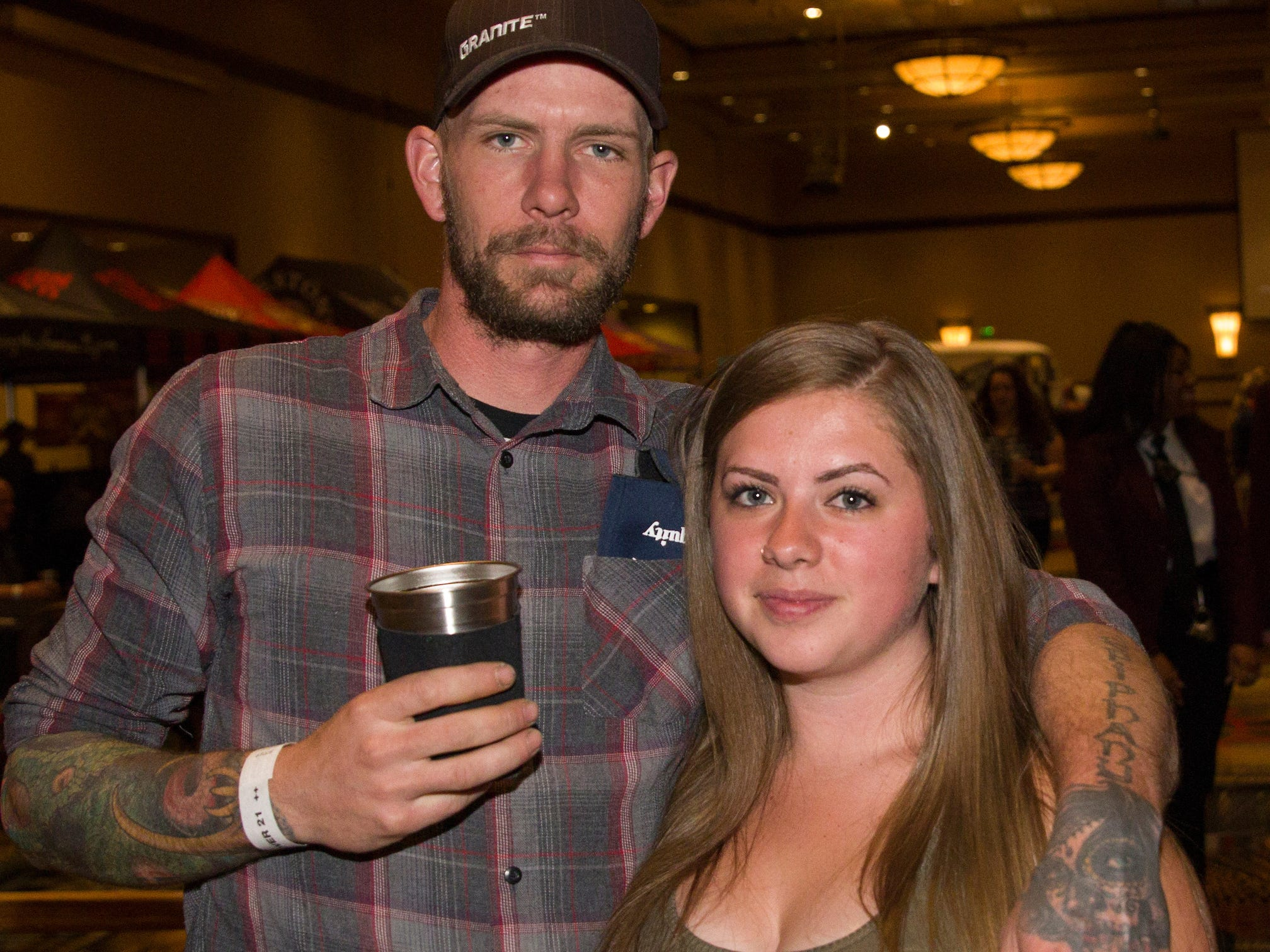 Dan and Rachel during the Young Alumni Beer Fest in the Reno Ballroom in downtown Reno on Friday, May 3, 2019.