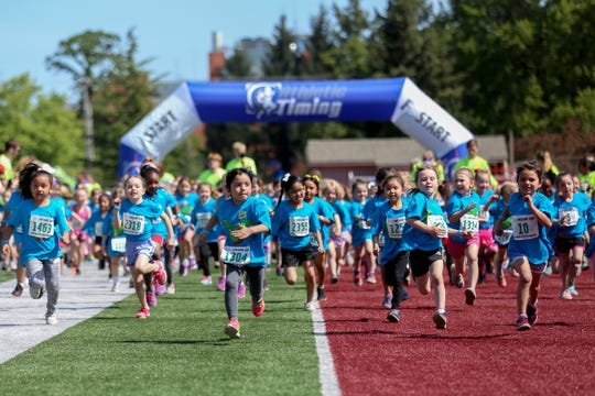 With the dissolution of the Salem-Keizer Education Foundation, the organization's annual Awesome 3000 fun run is at risk. Here, kindergarteners start the 37th annual run at Bush's Pasture Park May 4, 2019.