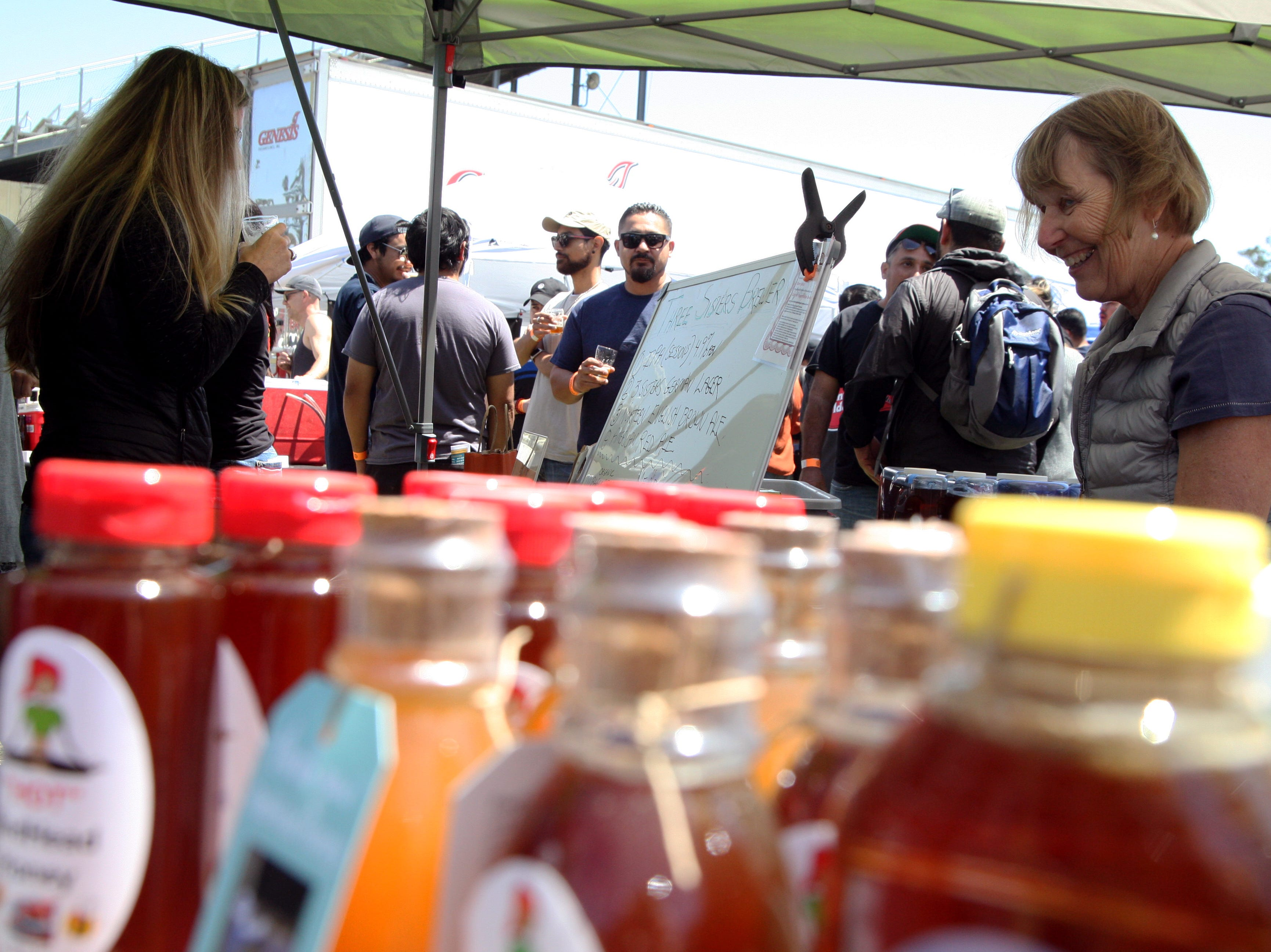 More than just beer was on sale at the Brew Fest; some sold honey, t-shirts, and more. May 4, 2019.