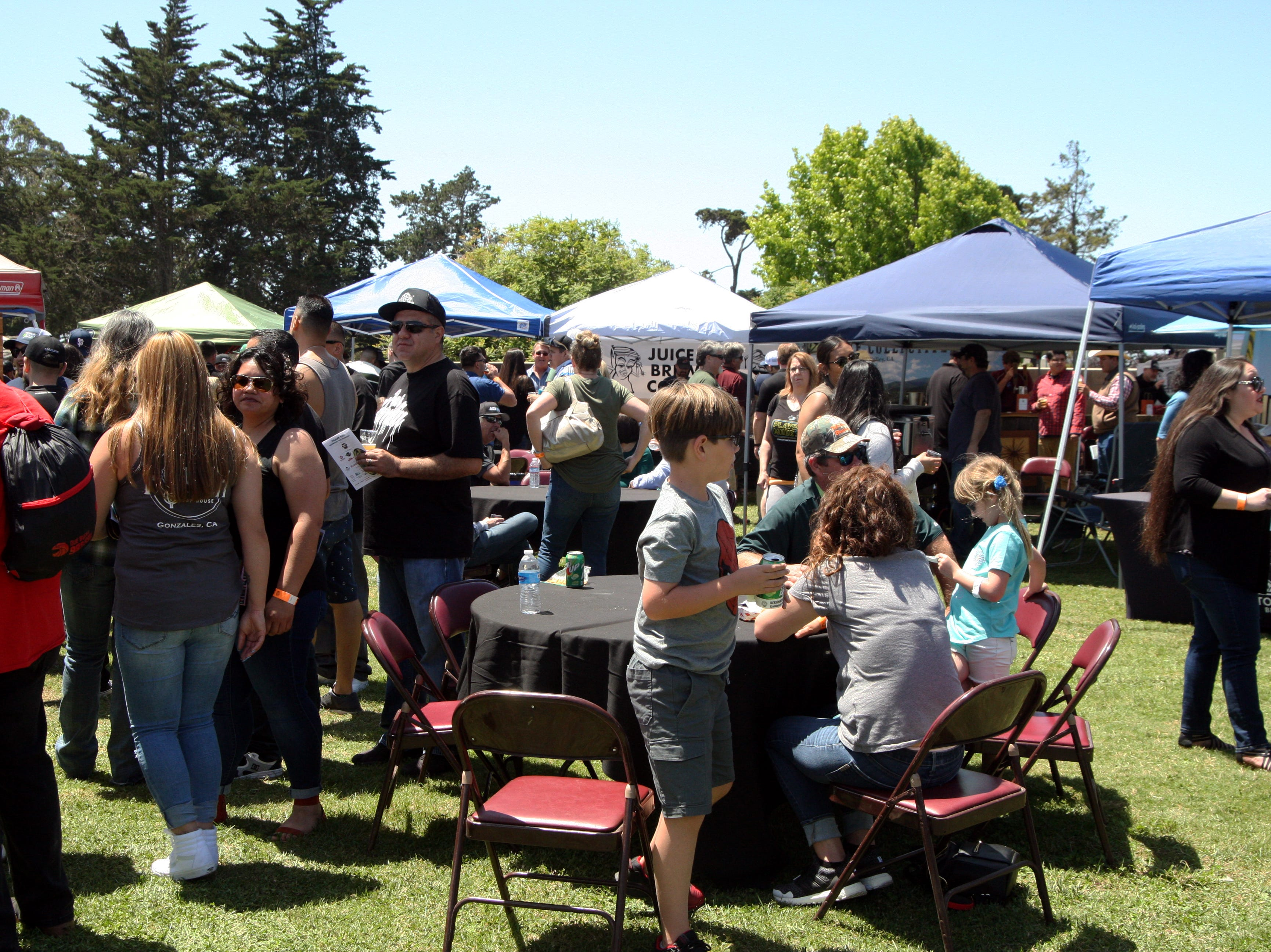 The crowd at Steinbeck's Home Brew Fest grew steadily as the hours passed. May 4, 2019.