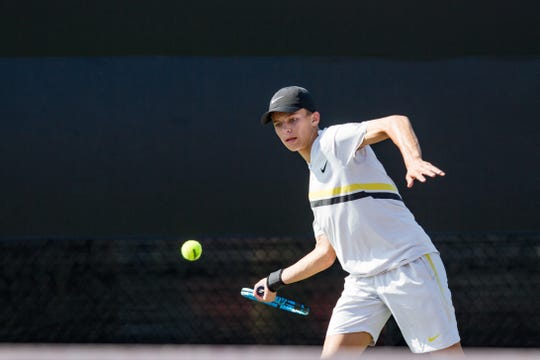 Brady High School's Jack Marshall won the Class 3A boys singles title in 2018 in College Station.