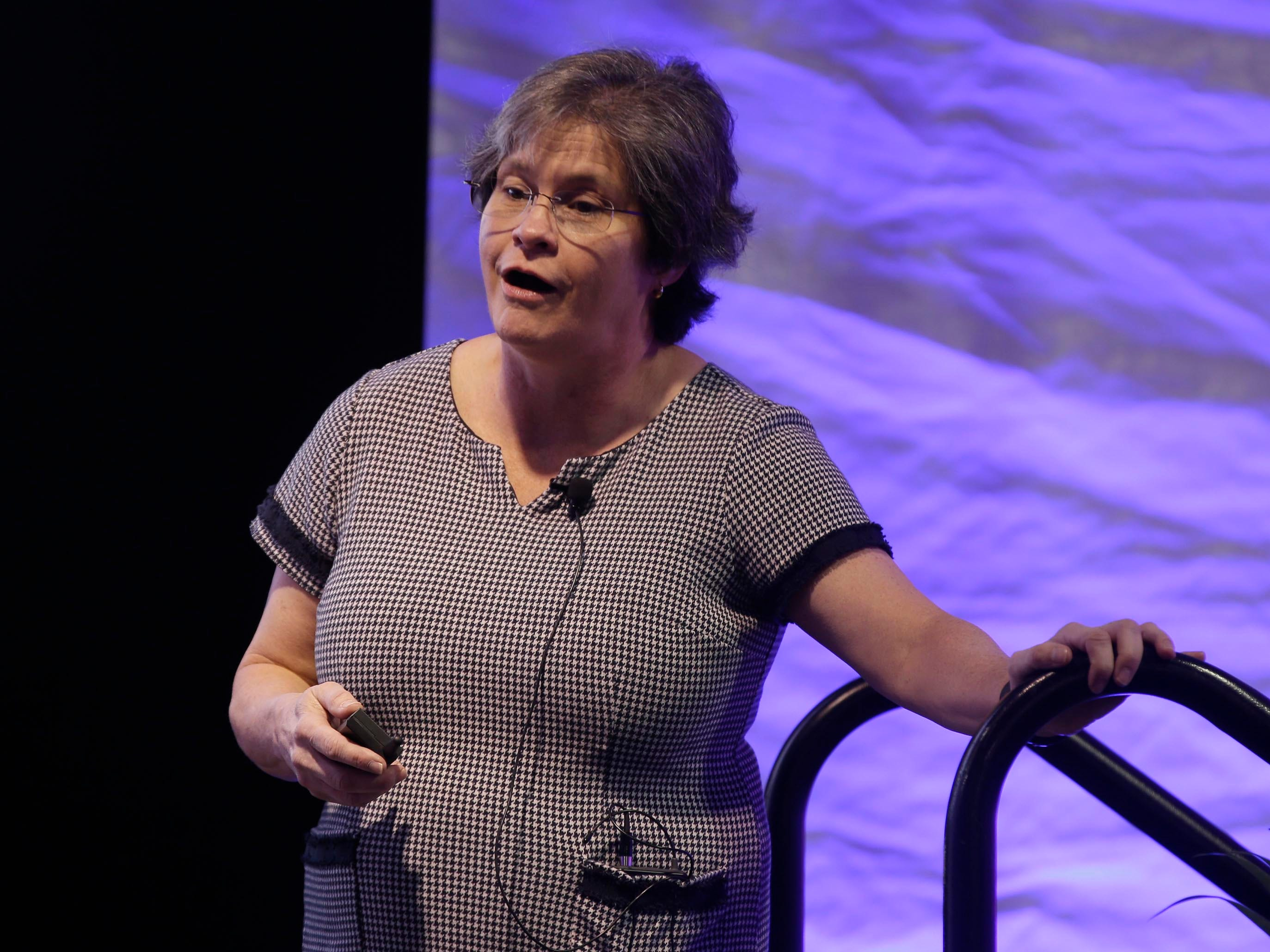 Dr. Grace E. Terrell is CEO of Envision Geonomics gives a presentation called Beyond 23 and Me during Kohler Well-Being, Saturday, May 4, 2019, in Kohler, Wis.