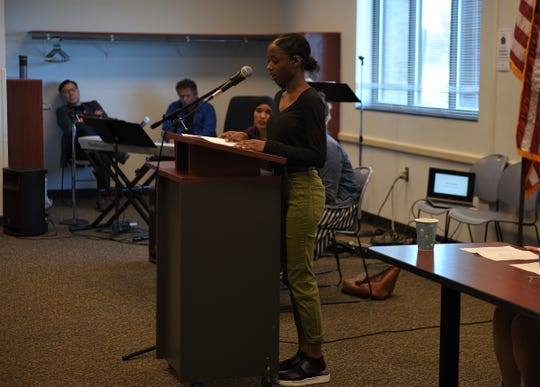 Elsa Gambu, a junior at Lincoln High School, shares her immigration story from Ethiopia and Eritrea at Siouxland Libraries on Saturday, May 4.
