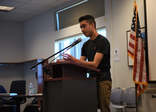 Kevin Alvarado, a Lincoln High School sophomore, has lived in Sioux Falls for about three years. He shared his immigration story from Mexico at Siouxland Libraries on Saturday, May 4.