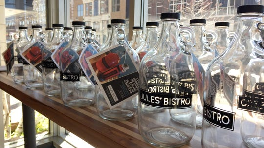 Jules' Bistro in downtown St. Cloud began offering growlers for kombucha on Saturday, May 4.
