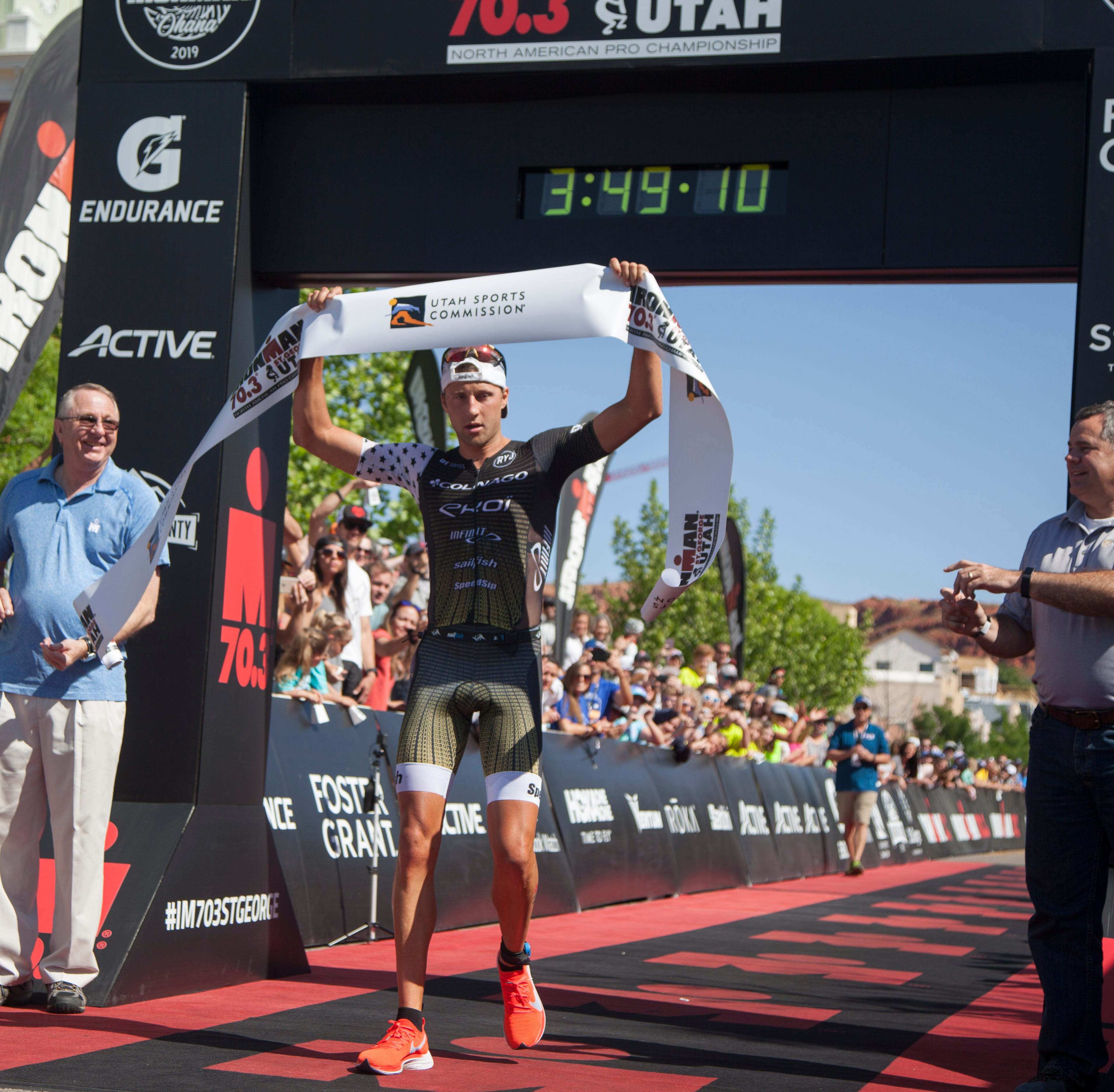 IRONMAN 2019: Rudy Von Berg's last-minute decision to run St. George 70.3 ends in a win