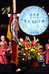 The Florida State University Class of 2019 crosses the stage during their commencement ceremony on May 3rd and 4th at the Donald L. Tucker Civic Center.