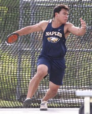 Naples senior Jett Su finished fourth in Class 3A discus during the FHSAA Track and Field State Championships at UNF's Hodges Stadium in Jacksonville on May 3 and 4, 2019.