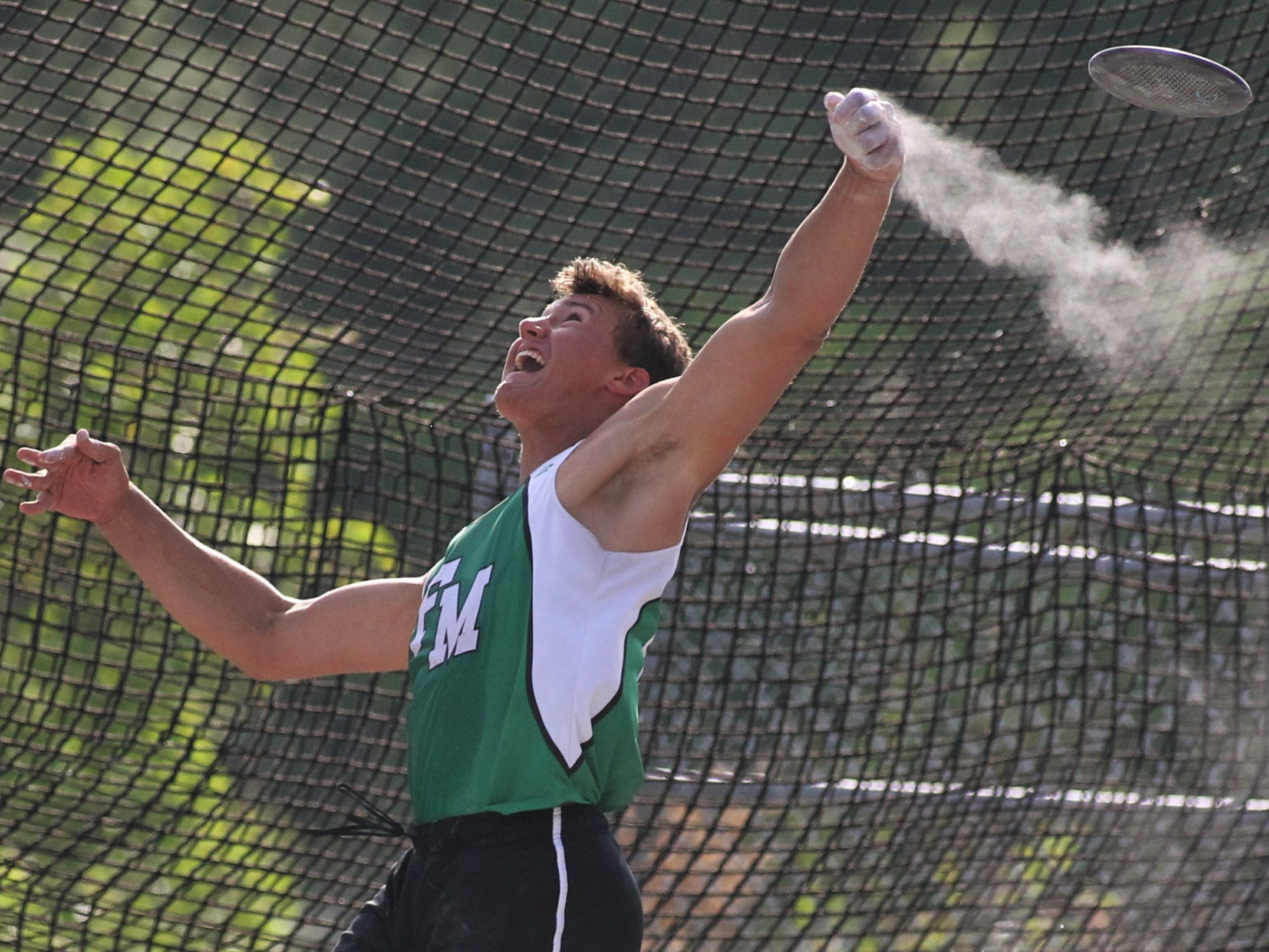 Fort Myers senior Jacob Lemmon won state titles in Class 3A discus and shot put during the FHSAA Track and Field State Championships at UNF's Hodges Stadium in Jacksonville on May 3 and 4, 2019.