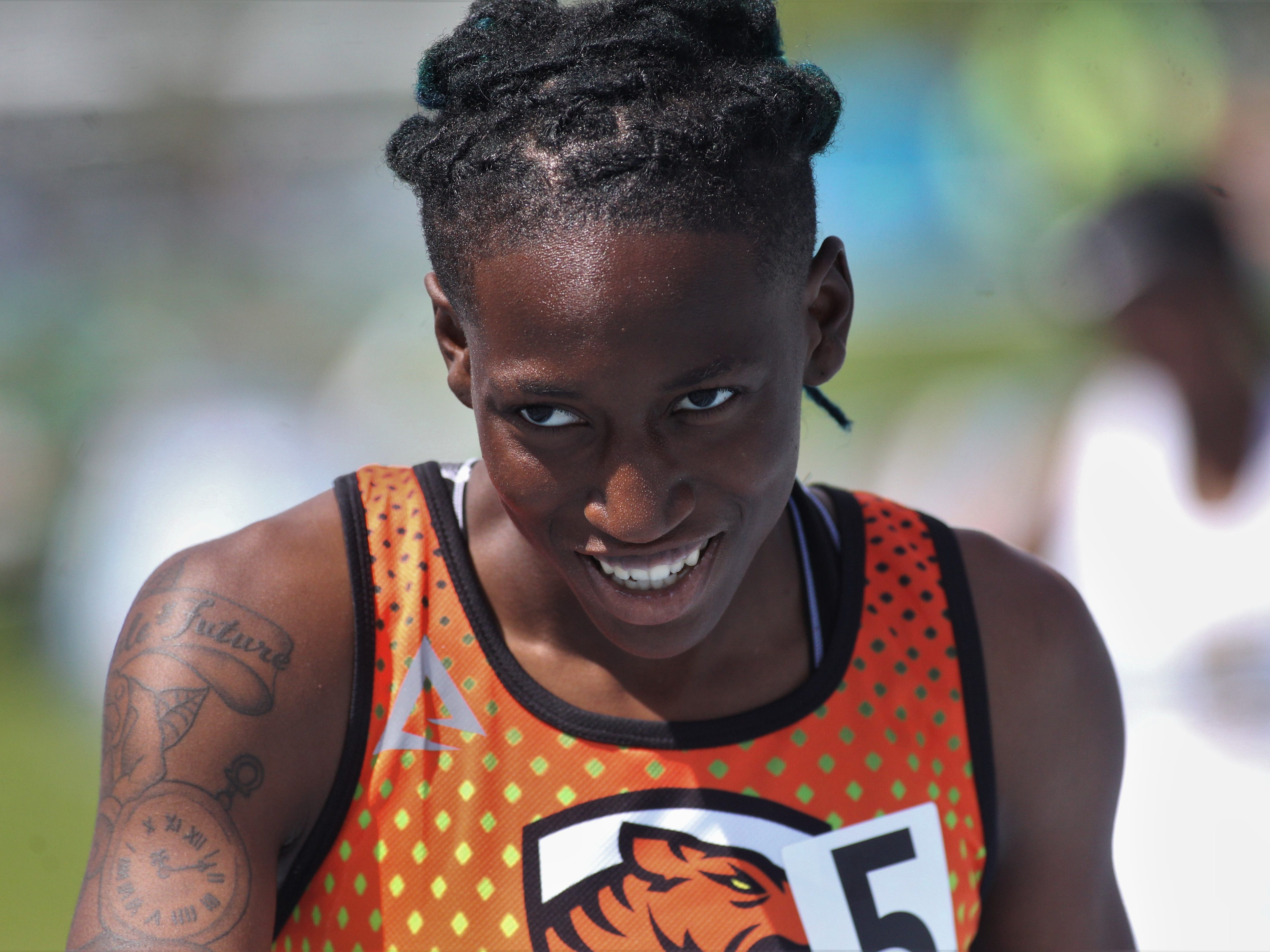 Cocoa senior Destiny Charles won a state title in the 200m dash and won silver in the 100 during the FHSAA Track and Field State Championships at UNF's Hodges Stadium in Jacksonville on May 3 and 4, 2019.
