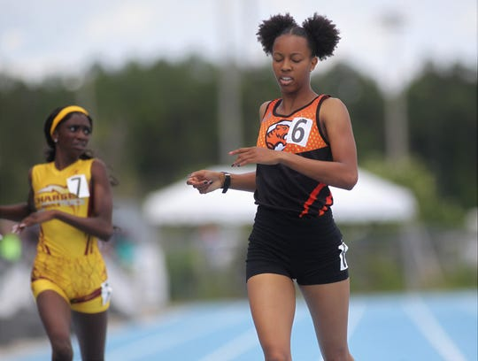 Cocoa senior Jatana Folston won silver medals in the 400m and 800m runs during the FHSAA Track and Field State Championships at UNF's Hodges Stadium in Jacksonville on May 3 and 4, 2019.