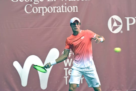 Dmitry Popko, a member of the Kazakhstan Davis Cup team, was devastating in his semifinal win Saturday, May 4, 2019 over Paul Oosterbaan of the USA.