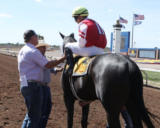 Shame On Read won the Copper Top Futurity Saturday at Sunland Park Racetrack & Casino.